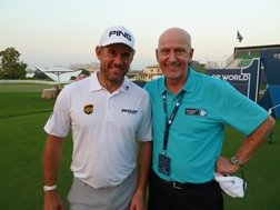Lee Westwood and Skipton member Alistair Coy
