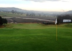 View of new embankment from 18th green