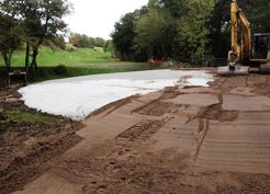 15th green redevelopment works